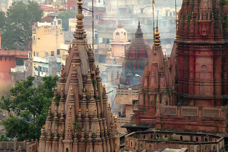 Temples above the Ganges, Varanasi.