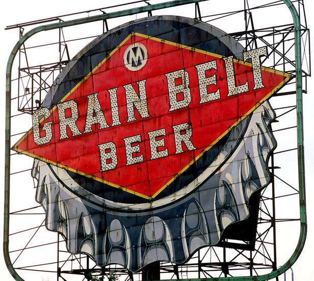 Grain Belt beer sign, Minneapolis, Minnesota, 2000.