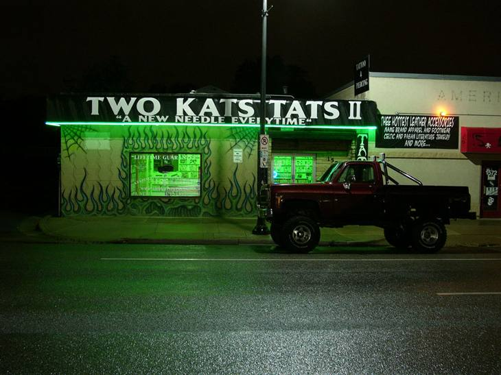 Two Kats tattoo parlor, Salt Lake City, Utah, 2005.