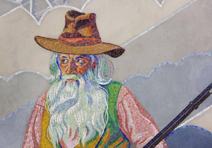 Winold Reiss mural detail, rotunda, Union Terminal.