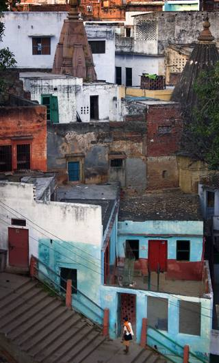 Steps above the Ganges, Varanasi, 2005.