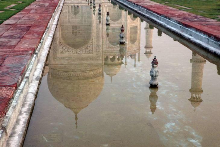 Taj Mahal reflected in pool, Agra, 2005.