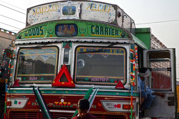 Truck outside Jaipur, 2005.