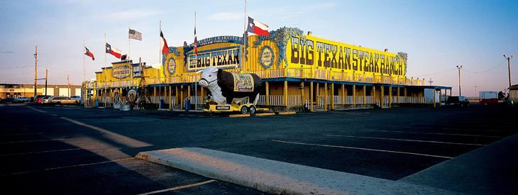 """Big Texan steakhouse, home of the """"free"""" 72 oz. steak, Amarillo, Texas, 2001."""