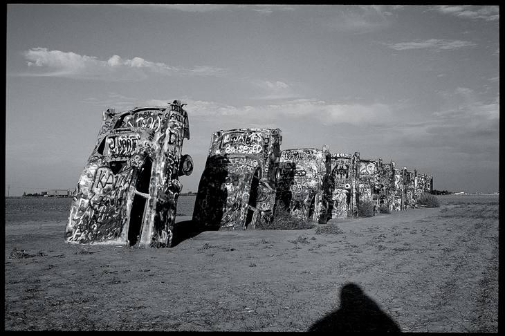 Cadillac Ranch, west of Amarillo, Texas, 2001.