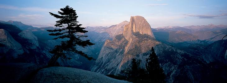 Half Dome from Inspiration Point, Yosemite, 2001.