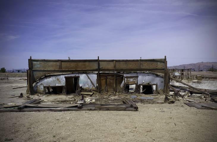 Bombay Beach, California, on the shores of the Salton Sea, 2010.