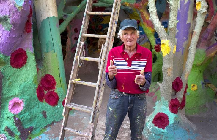 Leonard Knight, creator of Salvation Mountain, Niland, California, 2010.
