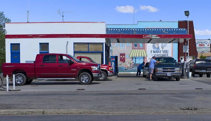 Gas station, Baker City, Oregon, 2010.