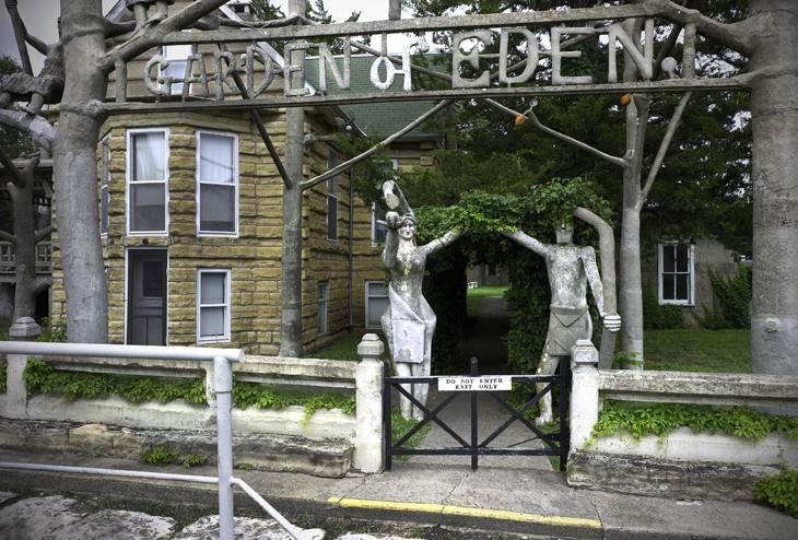 Garden of Eden exit, Lucas, Kansas, 2010.