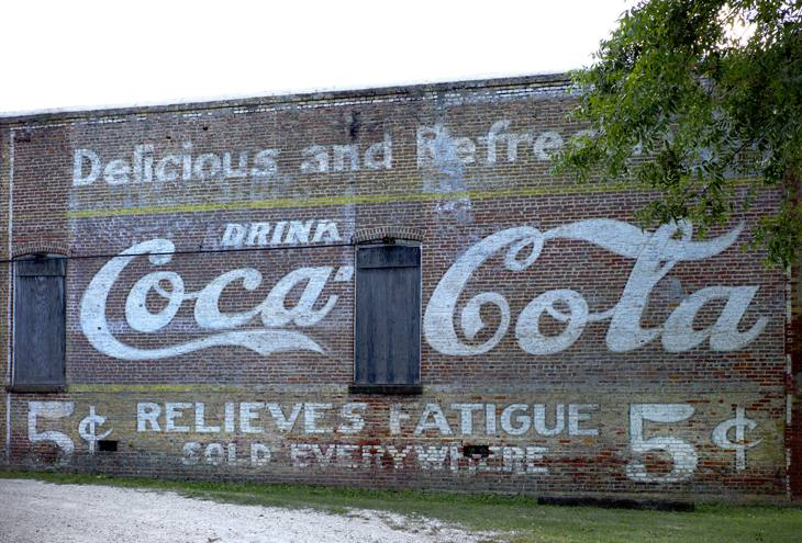 Old Coca Cola sign, Demopolis, Alabama, 2010.