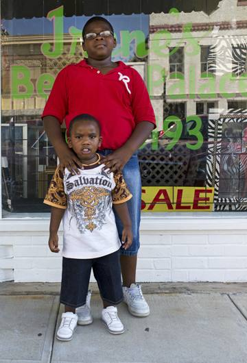 Uncle and nephew, Greensboro, Alabama, 2010.