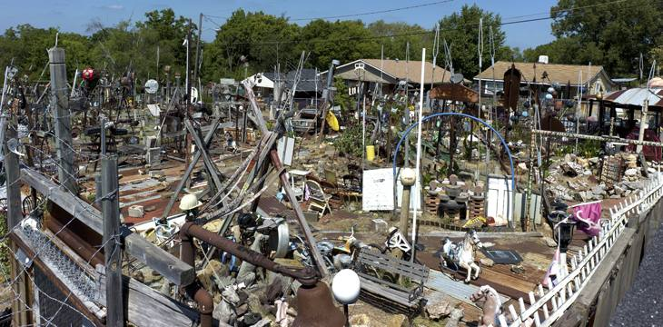 Joe Minter's art yard, Birmingham, Alabama, 2010.