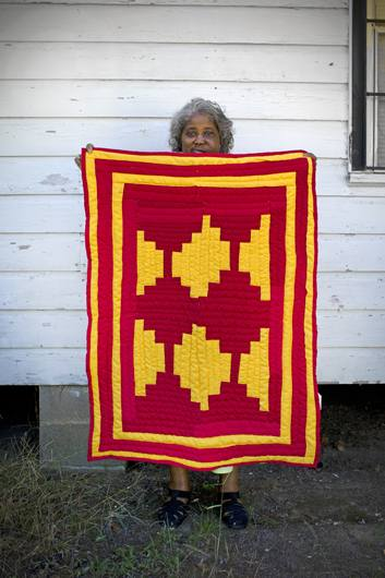 Mary Anne Pettaway, quilter, Gee's Bend, Alabama, 2010.