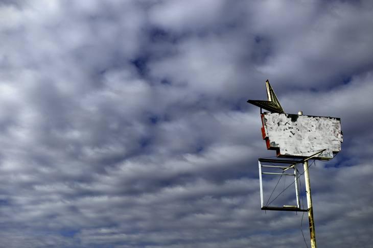 Sign on I80 near Imlay, Nevada, 2010.