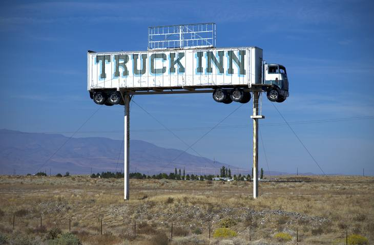 Truck Inn, I-80, Fallon, Nevada, 2010.