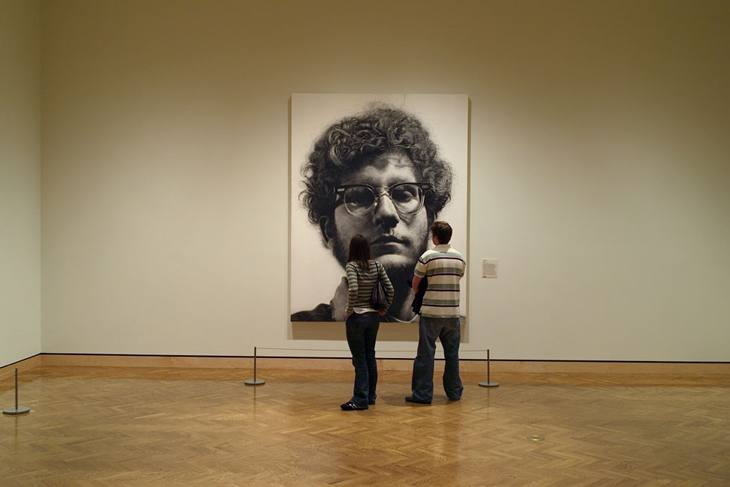 Chuck Close painting, Minneapolis, Minnesota, 2007.