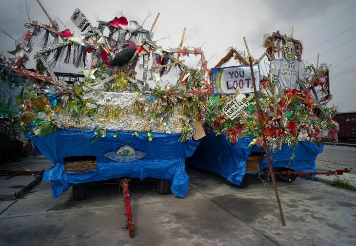Parade floats, New Orleans, Louisiana, 2007.