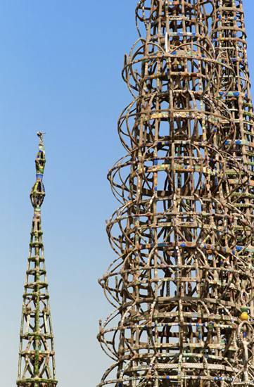 Watts Towers, Los Angeles, California, 2007.