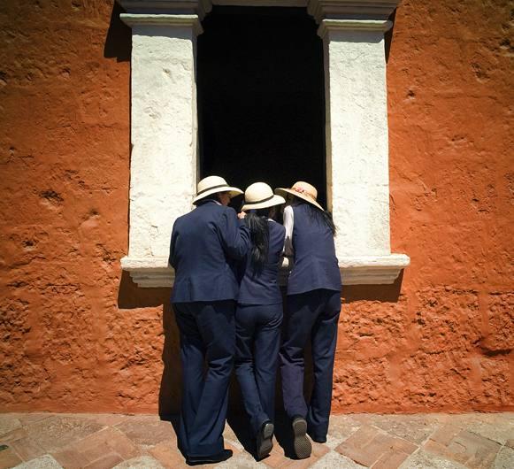 Tour guides, Arequipa, Peru, 2007.