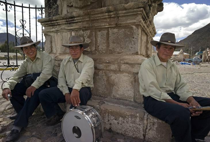 Musicians, Colca Canyon, Peru, 2007.