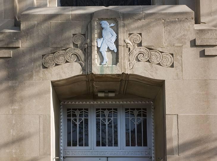 Newsboys' entrance, Cincinnati Times-Star building, 2007.