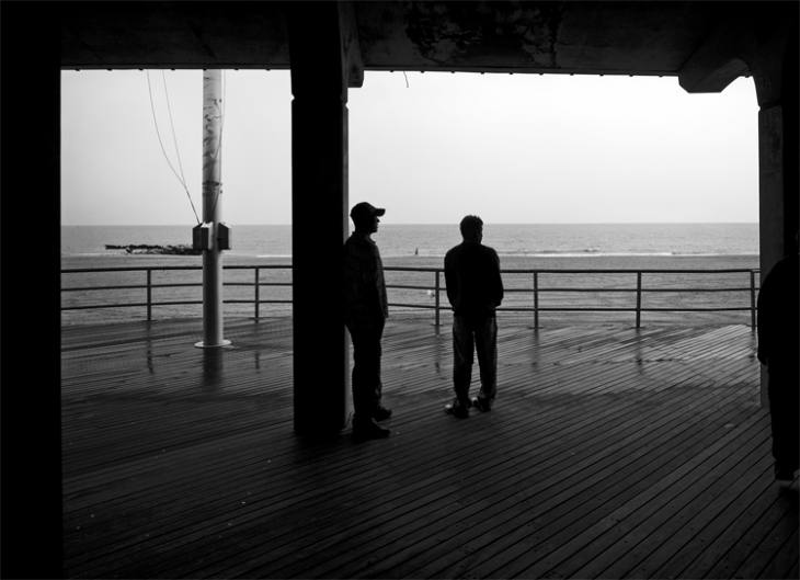 Looking out at the Atlantic, New York, 2007.