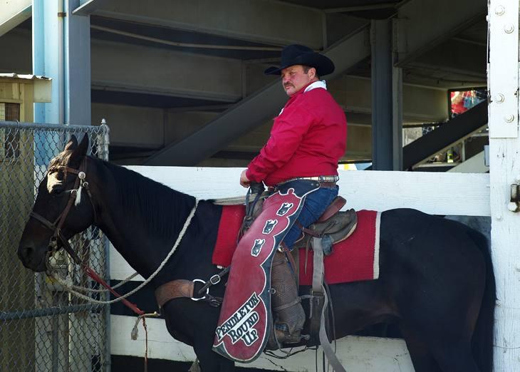 Roundup cowboy, Pendleton, Oregon, 2009.