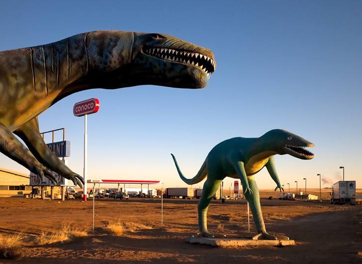 Dinosaurs near Holbrook, Arizona, 2009.