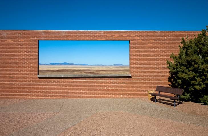 Window in a wall, Arizona, 2009.