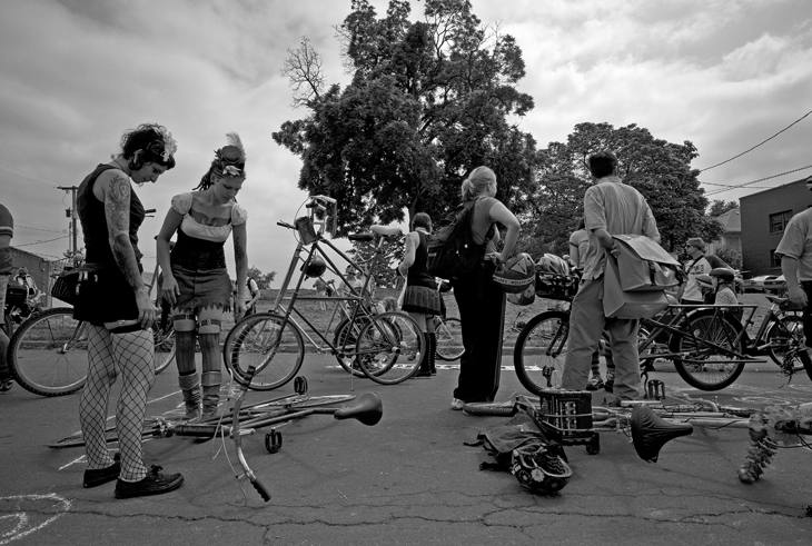 Art Bike Parade, Portland, Oregon, 2009.