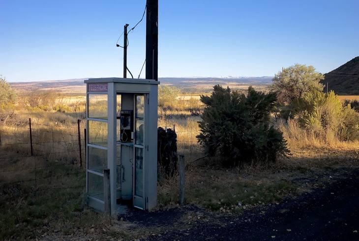 Phone booth, Frenchglen, Oregon, 2010.