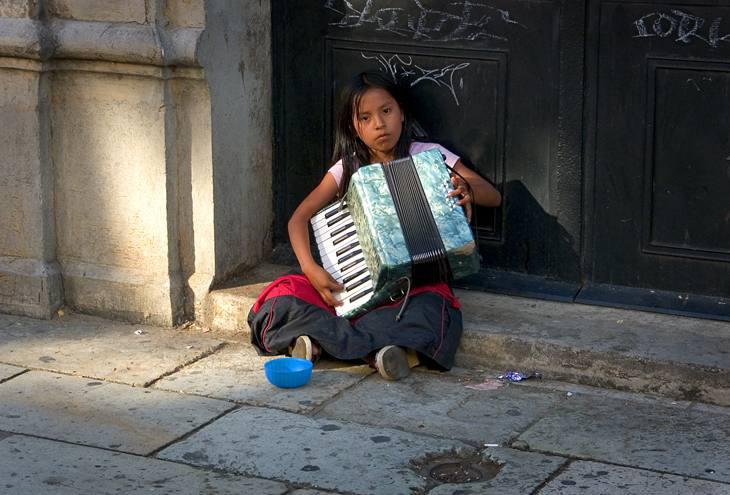 Girl on the street, Oaxaca, 2004.