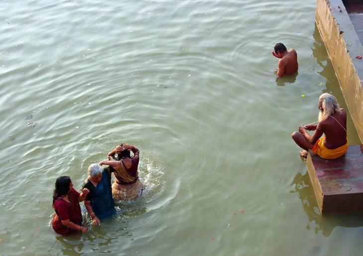 Bathing in the Ganges, Varanasi, 2005.
