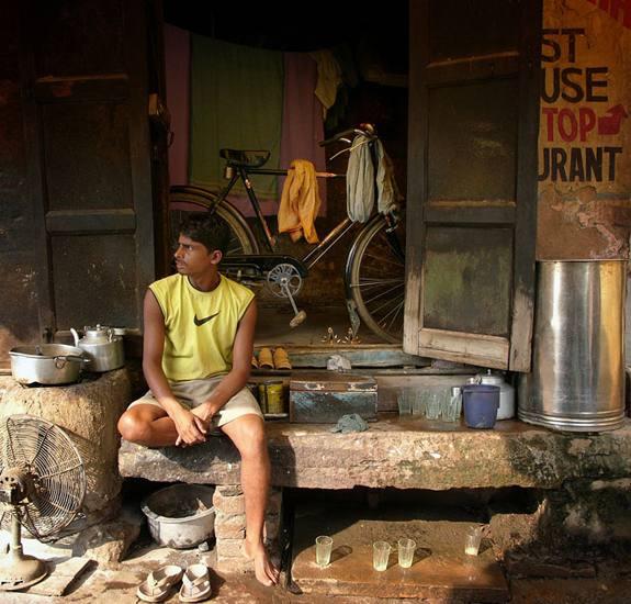 Shopkeeper, Manikarnika ghat, Varanasi, 2005.