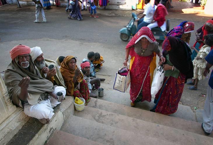Outside a Hindu temple, Pushkar, 2005.