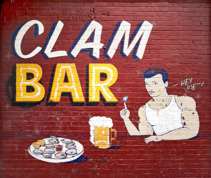 Clam bar along the Boardwalk, Coney Island, New York City. May 2008.
