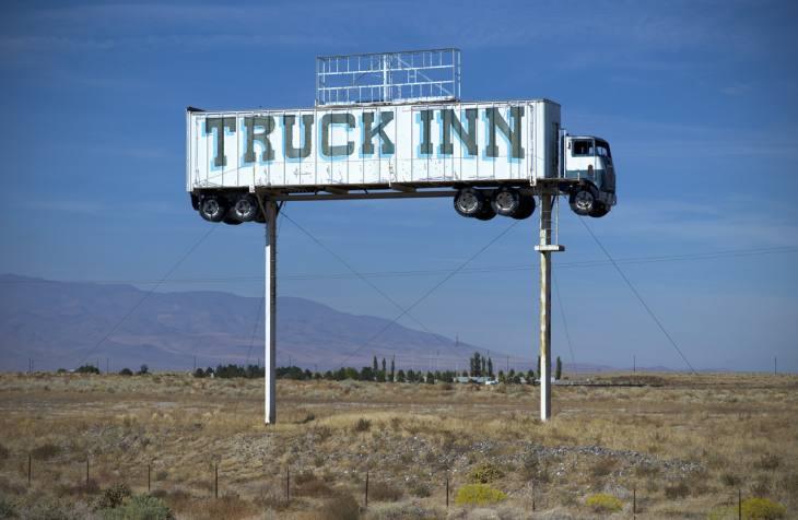 Truck Inn, closed in 2008, Fernley, Nevada. October 2010.