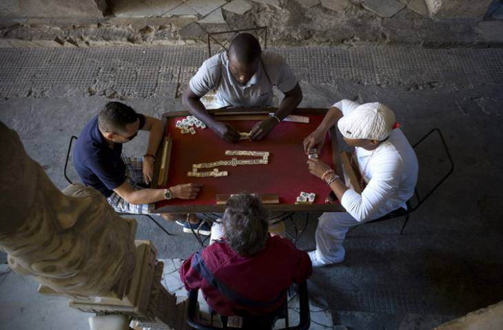 Domino game, Centro, Havana.