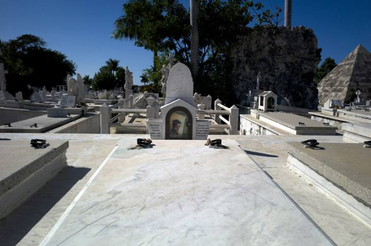 Tomb of Ibrahim Ferrer, famous Cuban singer, Cemeterio Colon, Vedado, Havana.