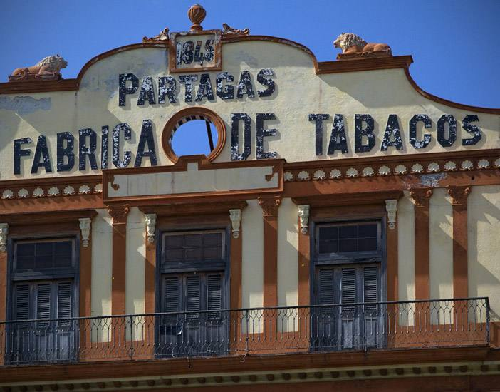 Facade, Partagas Cigar Factory, opposite the Capitolio, Havana.