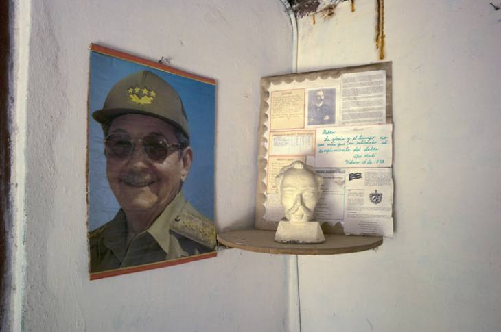 Raul Castro and Jose Marti, two icons of Cuba, Habana Vieja.