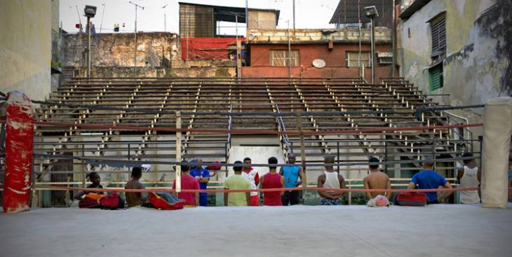 Training at Rafael Trejo Boxing Gym, Calle Cuba, Habana Vieja.