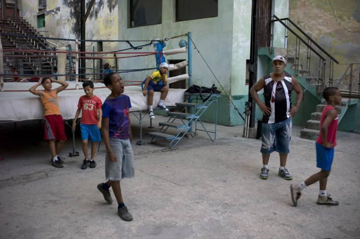 Boxers, Rafael Trejo Boxing Gym, Calle Cuba, Habana Vieja.