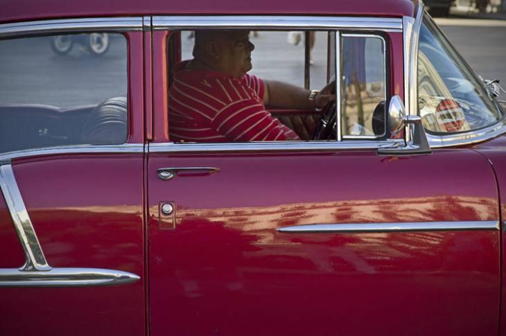 1955 Chevrolet on the Prado, Havana.