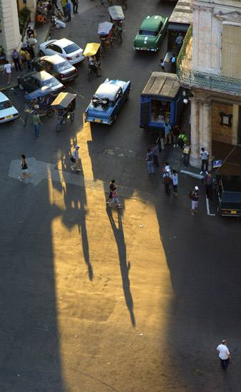 Calle Neptuno and the Prado, Havana.