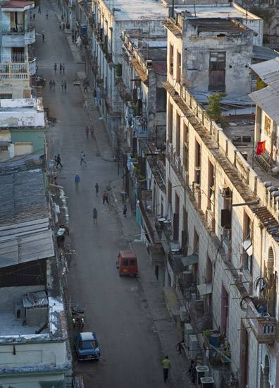 Looking west on Calle Virtudes, Centro Havana.