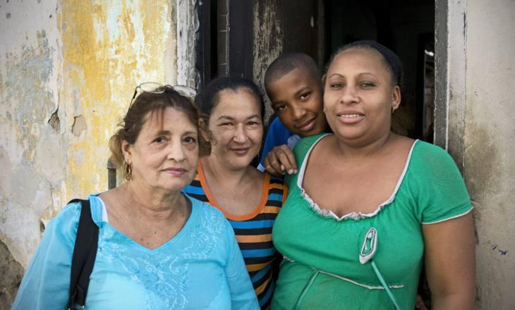 Residents of Calle Industria, Centro Havana.