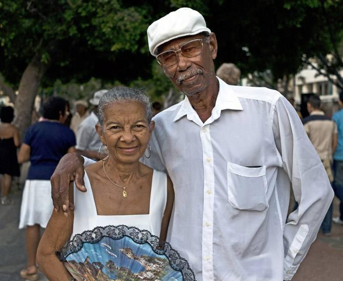Dancers on the Prado, Havana.